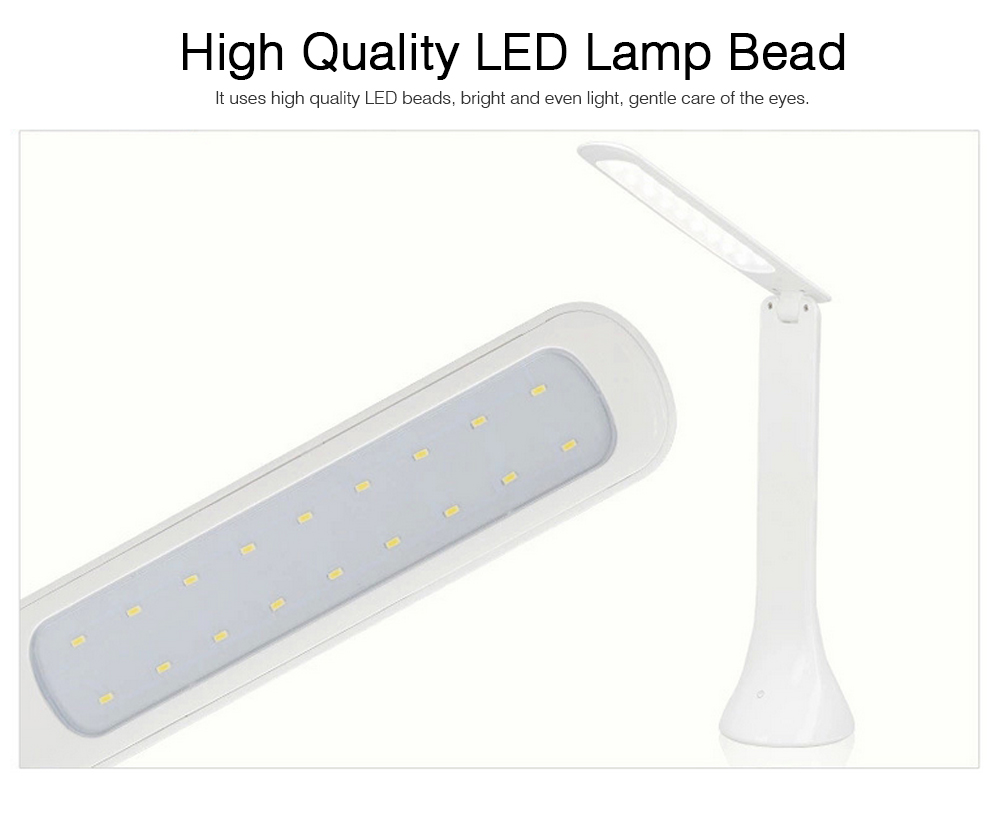 Folding Available Desktop LED Lamp, Eye Caring Table LED Lamp, Adjustable Office Light with USB Charging Port 5