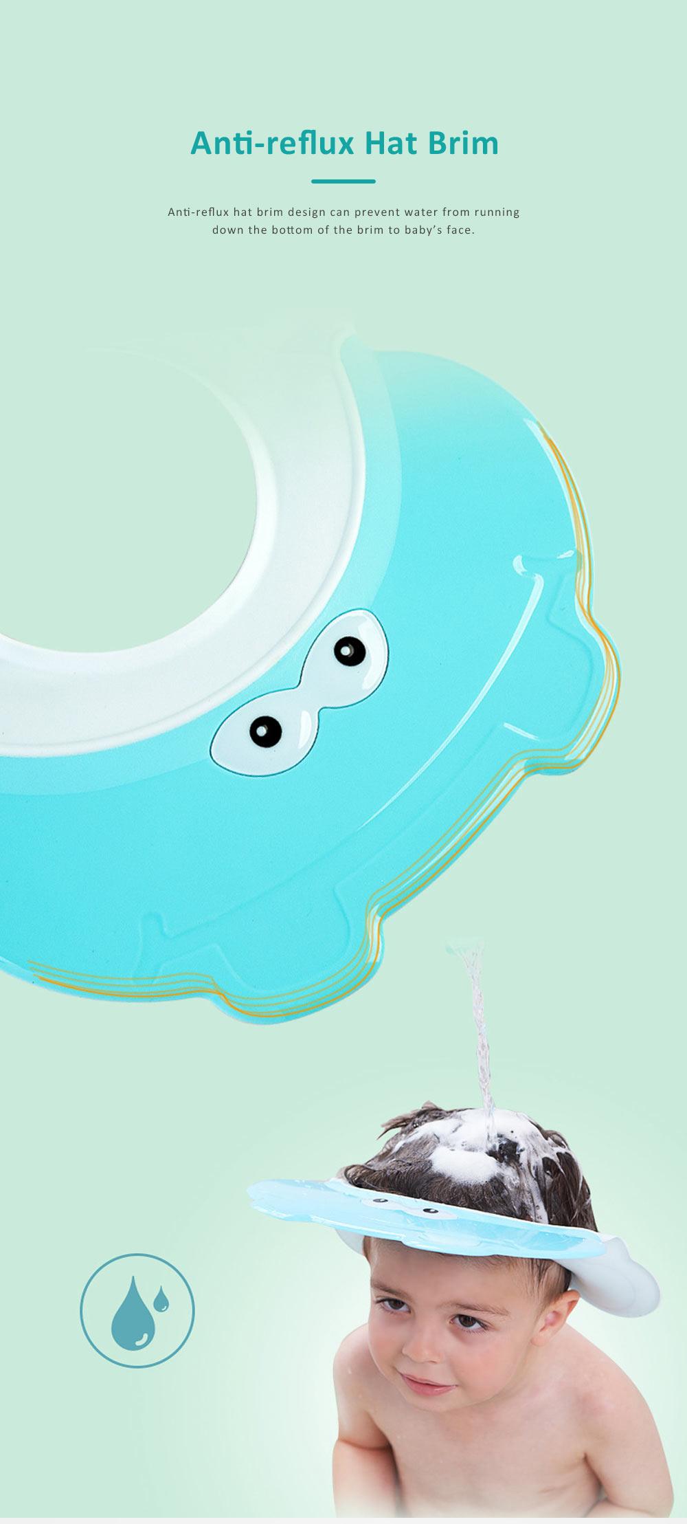 Animal Model Baby Shampoo Cap, Ultra-soft Elastic Ears Eyes Mouth Protection Shower Hat for Infants Shampoo Cap 4