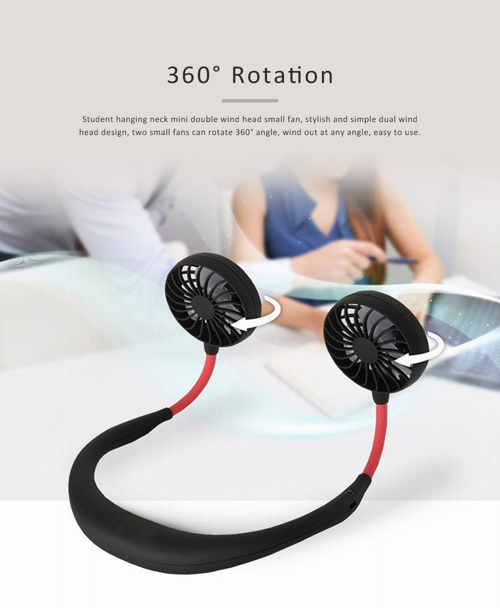 Hands-Free Neckband Fan Neckband Cooling Fan Portable Neckband Fan with USB Rechargeable for Traveling Outdoor Office 5