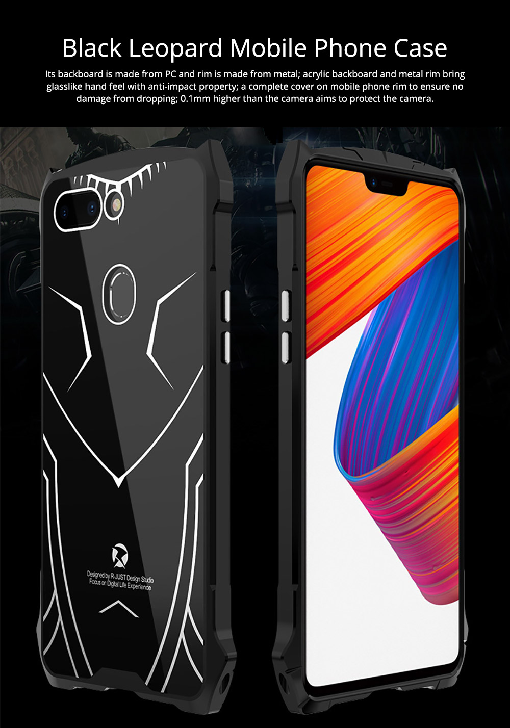 New-style Phone Case OPPO R15 Phone Cover Creative VIVO X21 Mobile Phone Protective Case PC Metal Phone Case Handset Accessories 0