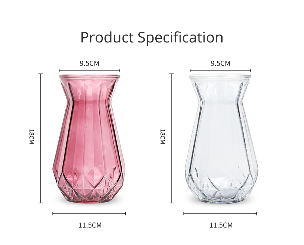 Geometric Vases for Centerpieces Rose Gold Glass Vases for Living Room Decoration Pumpkin Vases for Centerpiece European Style Bag Vase Household Decorative Accessories 5