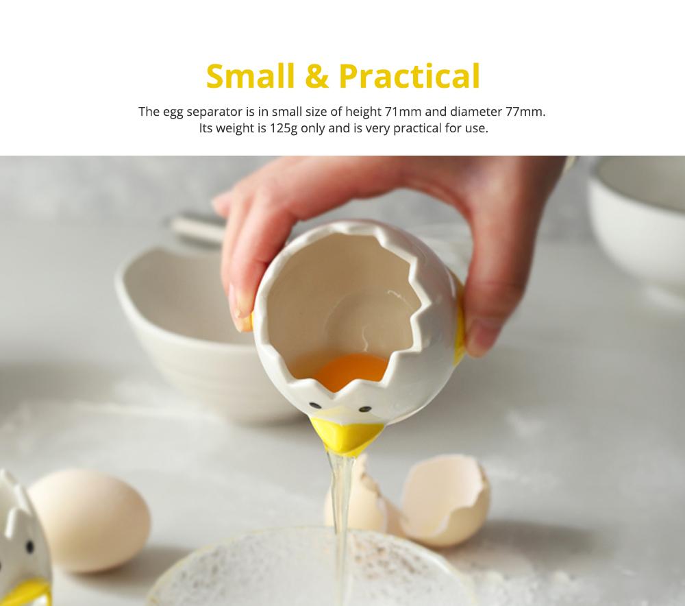 Ceramic Egg Separator for Baking Creative Egg Separator Egg Yolk White Separator Kitchen Gadgets Baking Tool Automatic Separating Bakeware Tool Egg Separator Tool 7