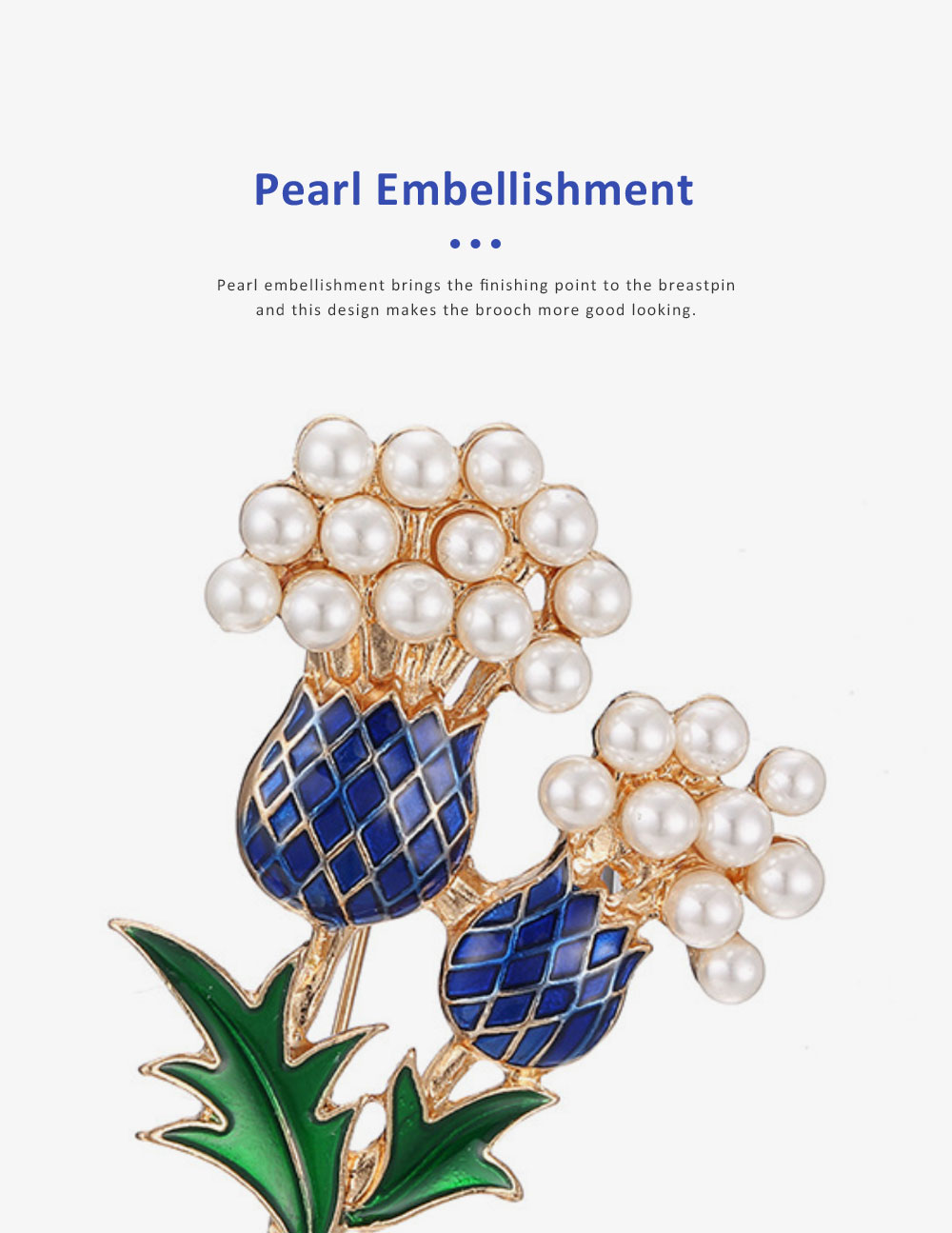 Elegant Brooch Oil-spot Glaze Pearl Decoration Pineapple Tree Breastpin, Delicate Fine Shiny Durable Alloy Brooch Clothes Scarf Ornament 4