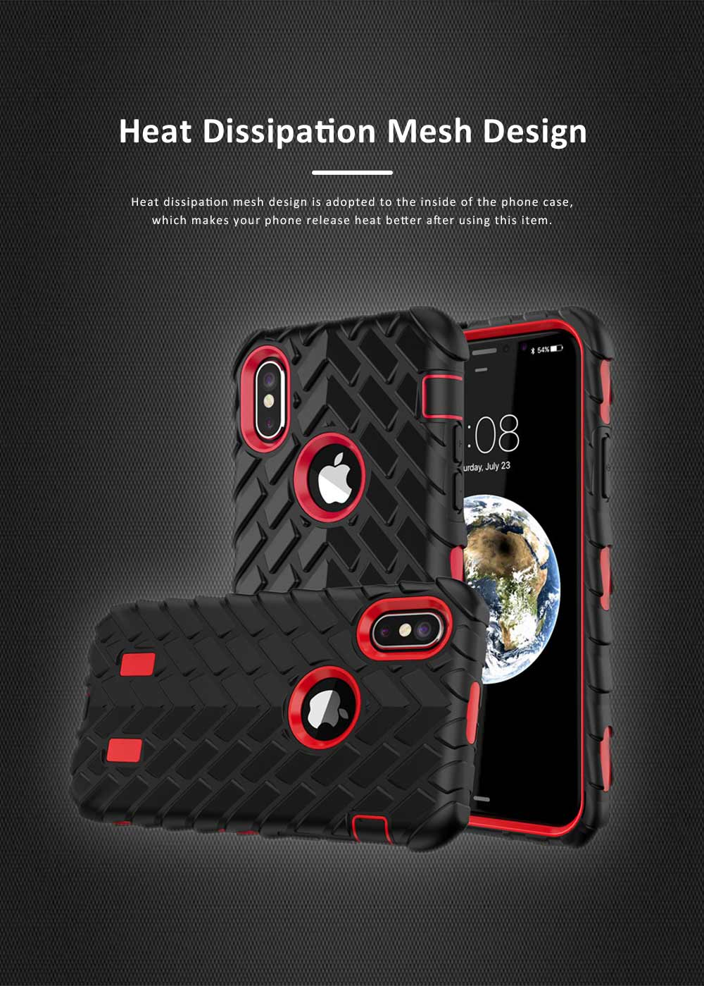 Solid Breaking-proof Huawei Armor Model Phone Case, Minimalist TPU PC Edges Hemming Phone Cover for Huawei Honor 2