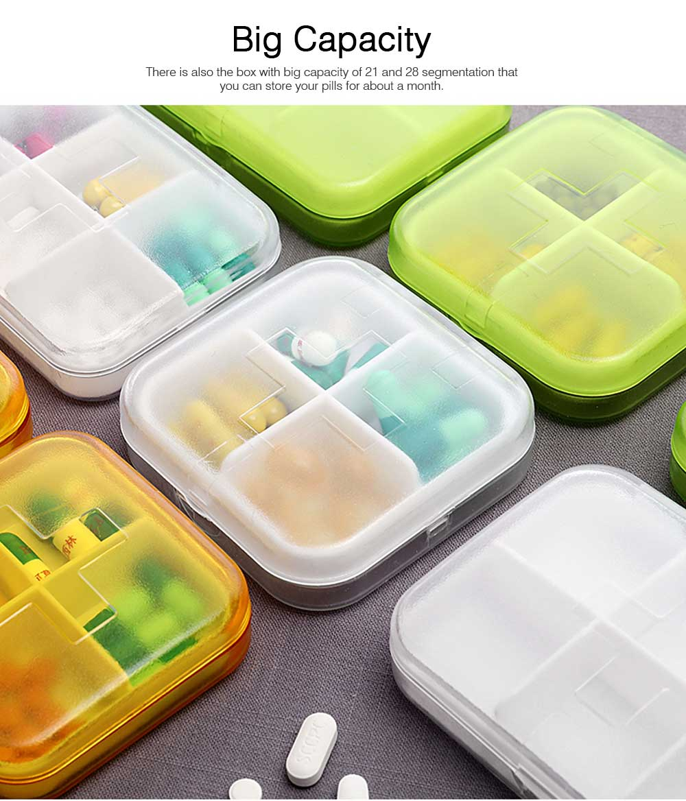 7 DAY Organizer Mini Pill Box Plastic Medicine Box for Pills Vitamin Tablets One-week Pill Organizer Container 4