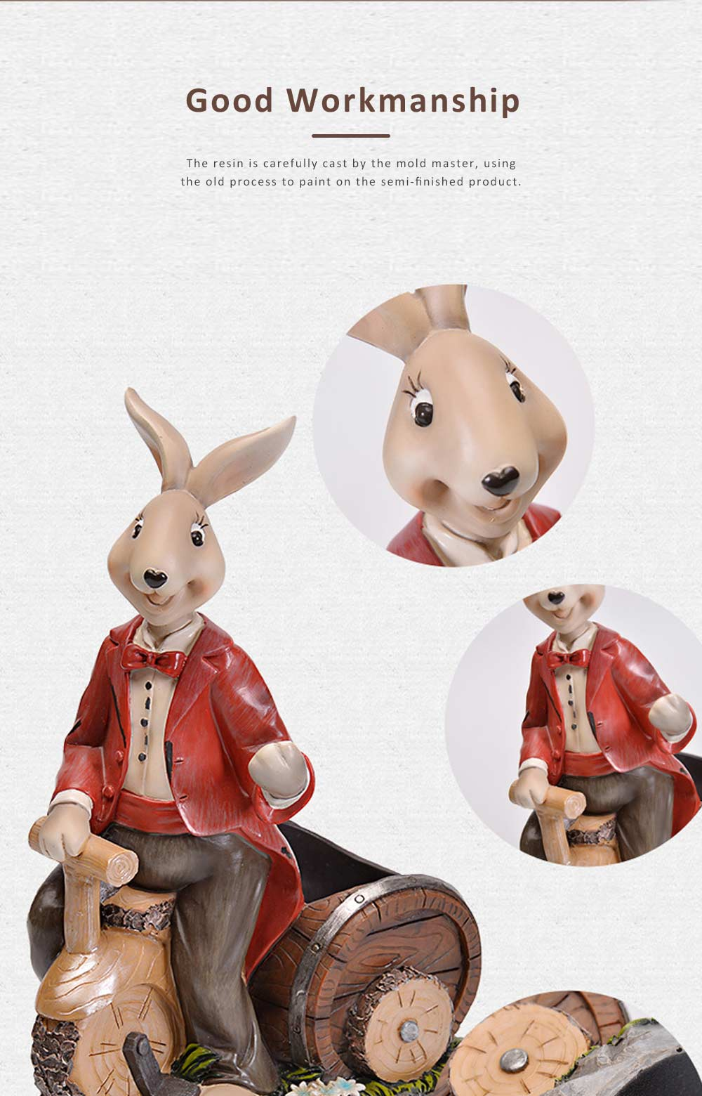 Wine Rack with Creative Cartoon Rabbit, European Resin Home Crafts Restaurant Fashion Wine Cabinet Decoration for Easter 1