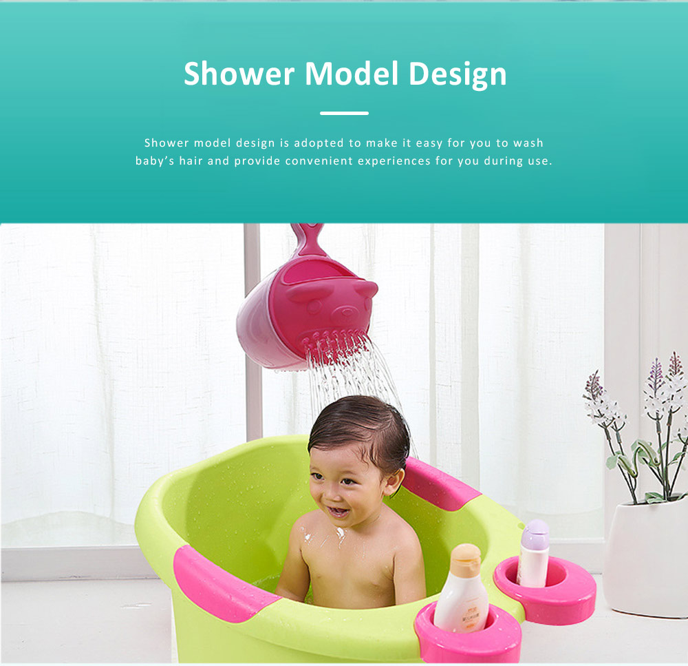 Bear Model Baby Shampoo Rinser Cup, Convenient Portable Hair Wash Bathing Flusher for Infants Shampoo Cup 2