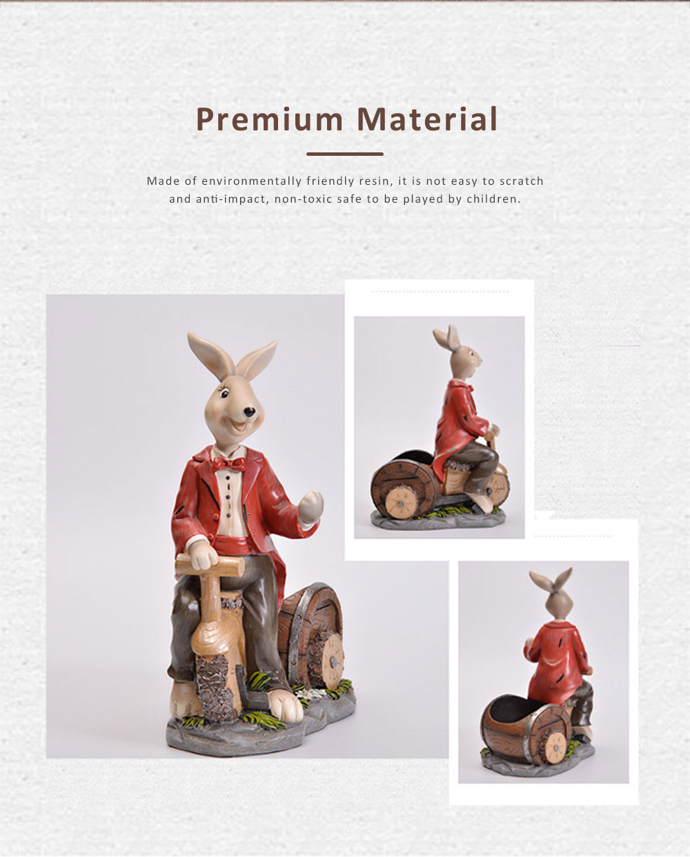Wine Rack with Creative Cartoon Rabbit, European Resin Home Crafts Restaurant Fashion Wine Cabinet Decoration for Easter 5