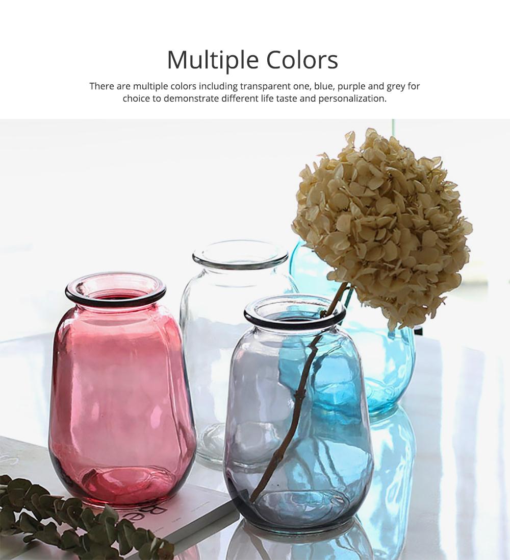 Mini Glass Vases for Centerpieces Cheap Bulk Large Diameter Glass Vase Transparent Vase for Fresh Cut Flowers Dish Table Decorative Vase 3