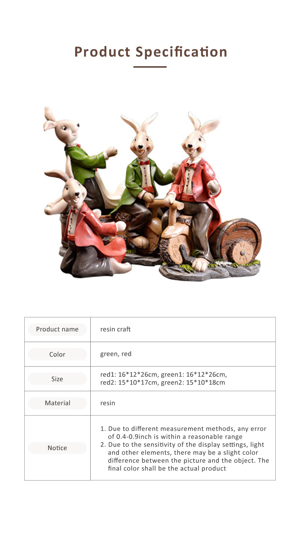 Wine Rack with Creative Cartoon Rabbit, European Resin Home Crafts Restaurant Fashion Wine Cabinet Decoration for Easter 6