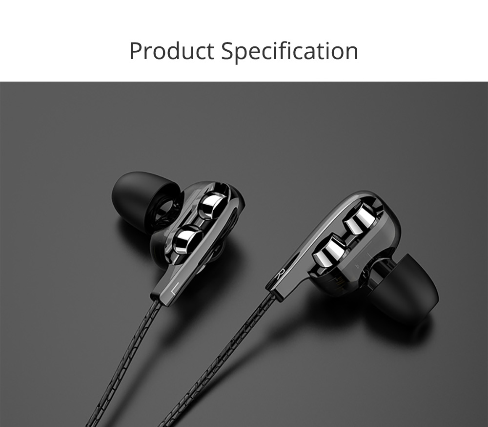 Type-c Headphone with Dual Moving-coil Interface, Quad-core Sound Quality Semi-in-ear Earphone for XIAOMI & HUAWEI, Noise Reduction In-ear Headset 7