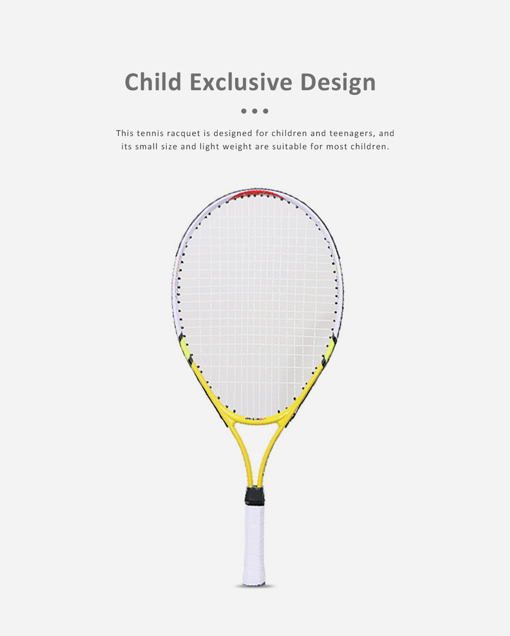 Solid Tennis Racquet with Aluminum Alloy, Delicate Professional Tennis Racket with Oxford Cloth Store Bag, Durable Tennis Racquet for Children Teenager 4
