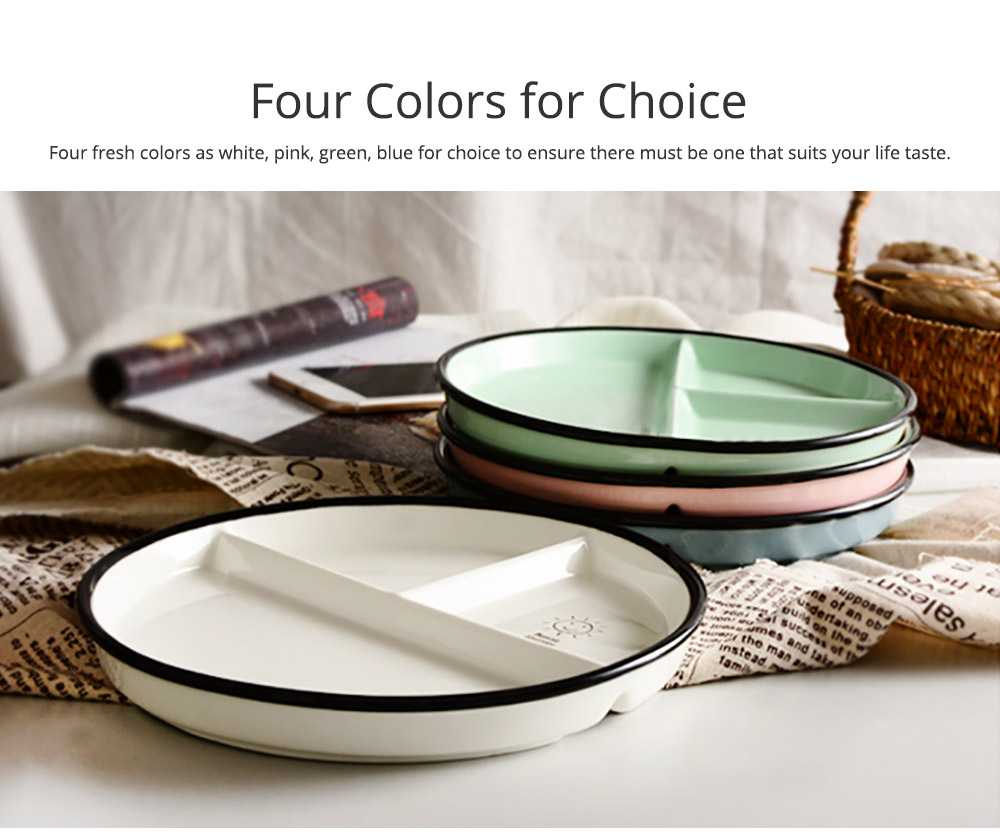 Ceramic Breakfast Dish for Household Use Smiley Plate Creative Snack Dish Salad Plate  Separation Plate Smiling Face Separating Plate Tableware 7