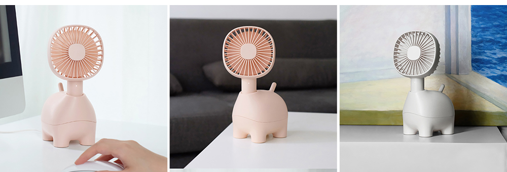 Mini Pet Handheld Fan Oscillating Small Portable Fan with USB Chargeable for Office Table Home Dormitory 7