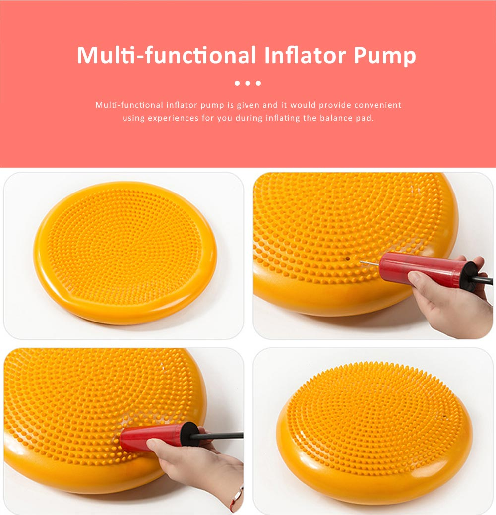 Elastic Tough Explosive Proof PVC Yoga Gym Balance Pad, Thicken Stability Massage Air Cushion Wobble Pad Balance Board Disc 2