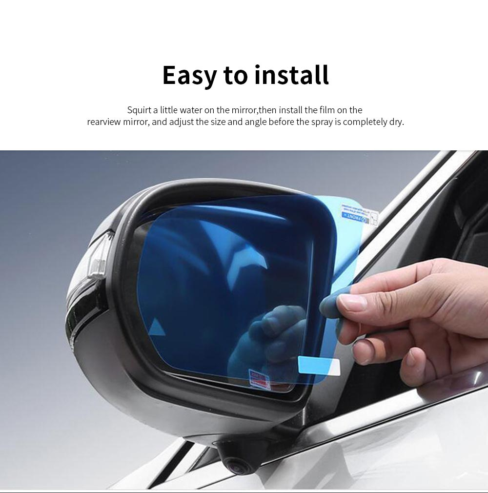 Car Anti Fog Film Anti-Mist Anti-Glare Mirror Waterproof Car Side Mirror Window Protector Film for Toyota Camry RAV4 Highlander PRADO COROLLA 5