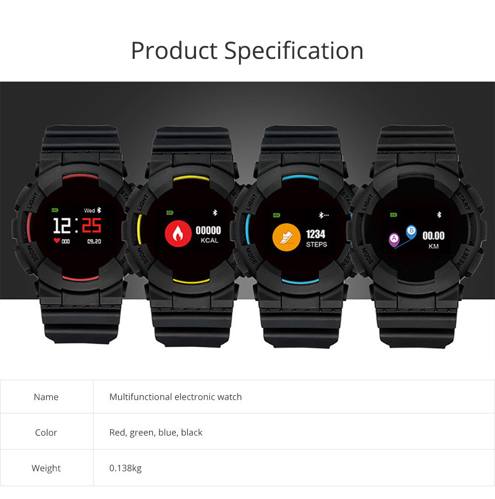 New-style Multifunctional Electronic Watch for Men & Women Electronic Watch Waterproof  Steps Counter Support Android IOS System Sportswear 7