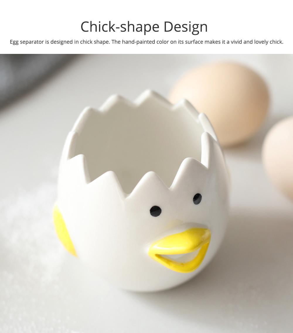 Ceramic Egg Separator for Baking Creative Egg Separator Egg Yolk White Separator Kitchen Gadgets Baking Tool Automatic Separating Bakeware Tool Egg Separator Tool 4