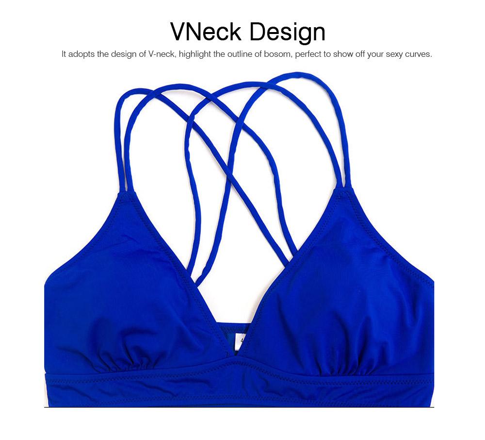 Women's Double Shoulder Straps Bikini, Cozy Ultra-Thin Sexy Triangle Cup Gathered Women's Bikini Set, No Steel Swimming Suit Bikini 5