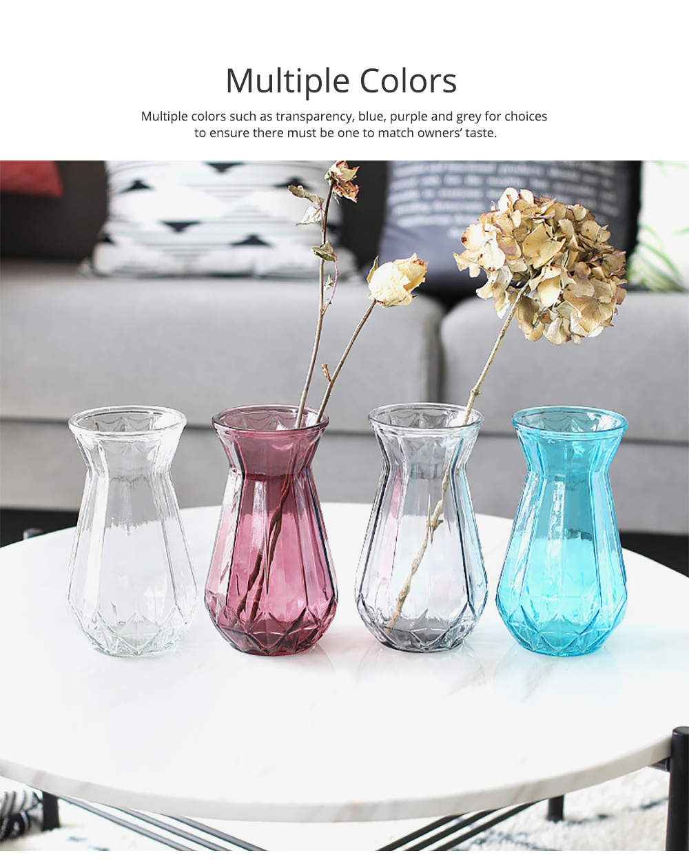 Geometric Vases for Centerpieces Rose Gold Glass Vases for Living Room Decoration Pumpkin Vases for Centerpiece European Style Bag Vase Household Decorative Accessories 1