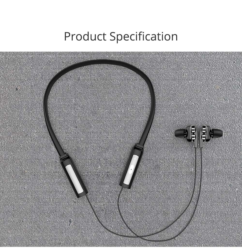 Earplug Running Headphones, Ear Neck Type with Four Core Sound Quality, Four Speakers Sound at The Same Time, Independent Audio 8