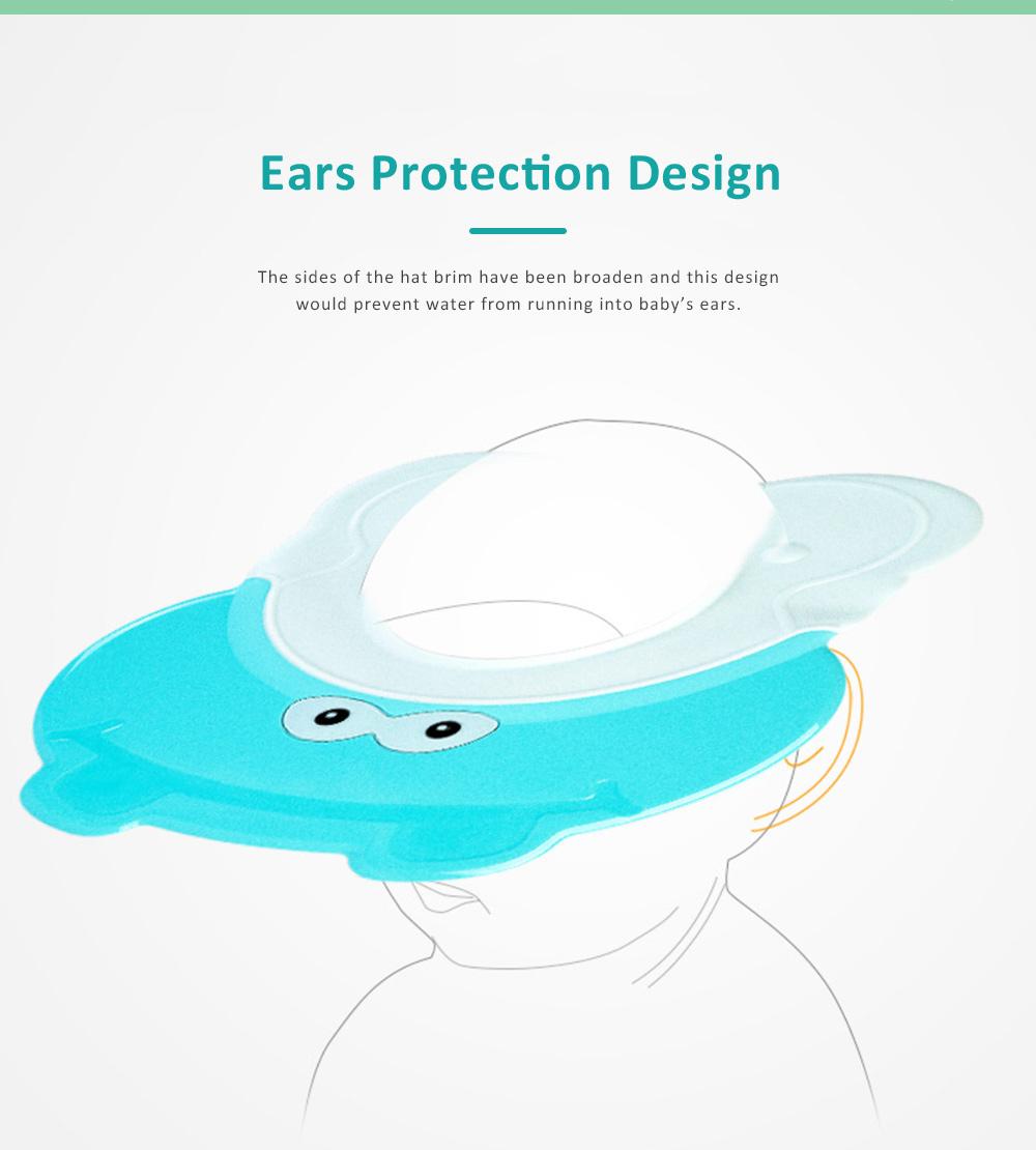 Animal Model Baby Shampoo Cap, Ultra-soft Elastic Ears Eyes Mouth Protection Shower Hat for Infants Shampoo Cap 1