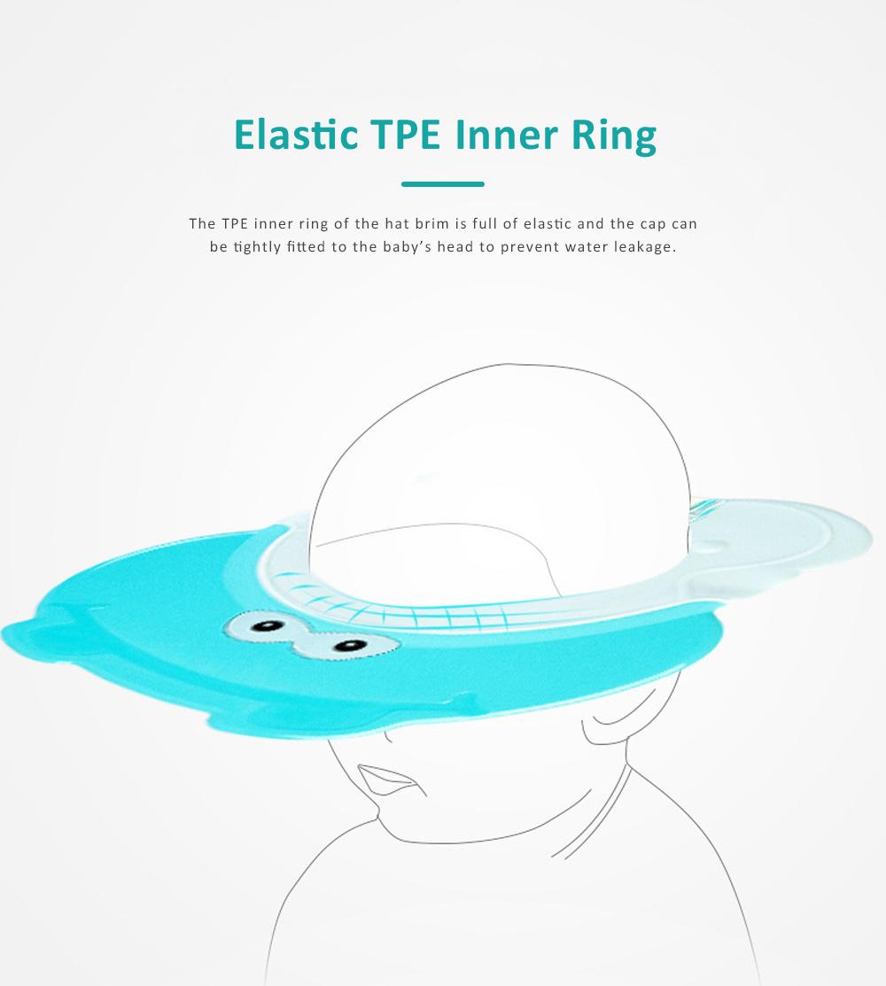 Animal Model Baby Shampoo Cap, Ultra-soft Elastic Ears Eyes Mouth Protection Shower Hat for Infants Shampoo Cap 5