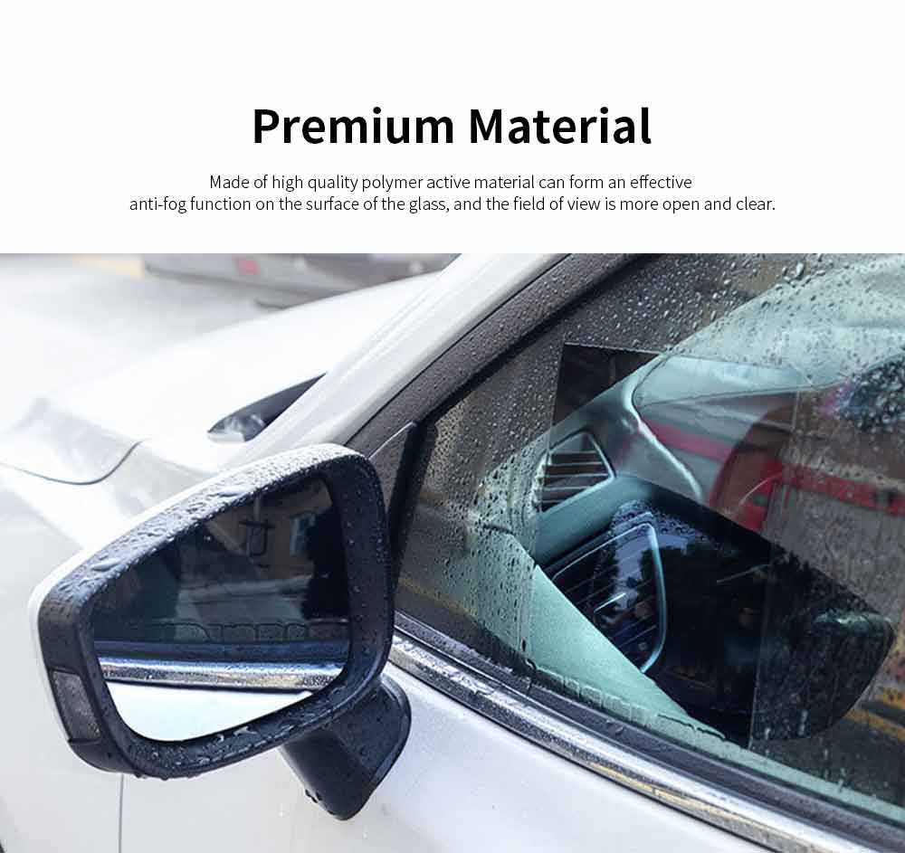 Car Rearview Mirror Glass Film Rainproof Anti-Fog Film Dust-Proof Anti-Glare Anti-Scratch Protective Film 3