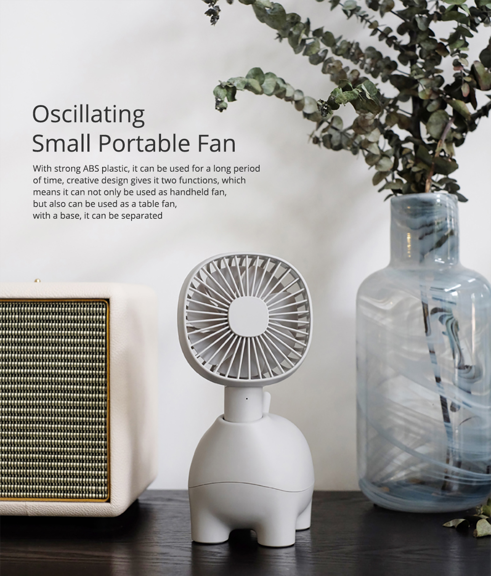 Mini Pet Handheld Fan Oscillating Small Portable Fan with USB Chargeable for Office Table Home Dormitory 0