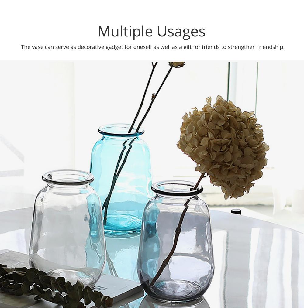 Mini Glass Vases for Centerpieces Cheap Bulk Large Diameter Glass Vase Transparent Vase for Fresh Cut Flowers Dish Table Decorative Vase 2