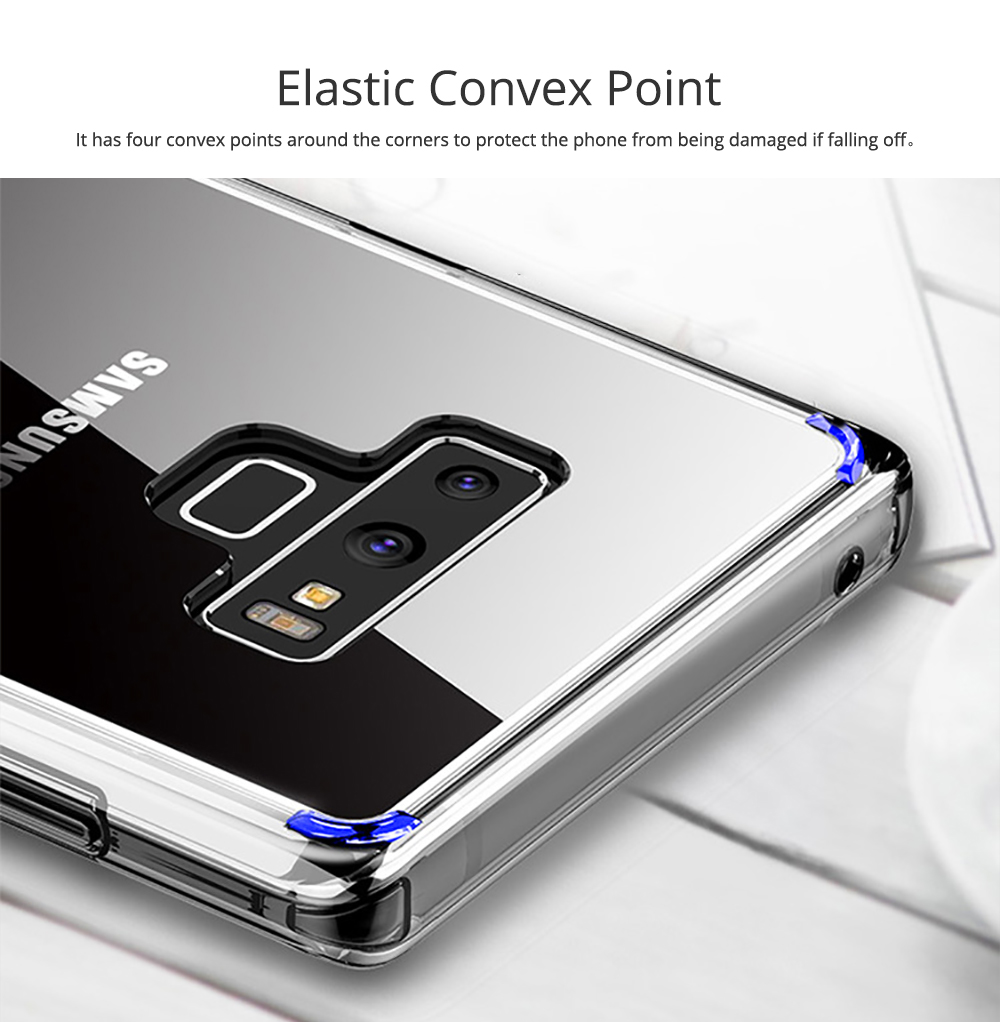 Ultra Soft Waterproof TPU Phone Case Cover with Transparent Frame Compatible with Samsung Note 9 3