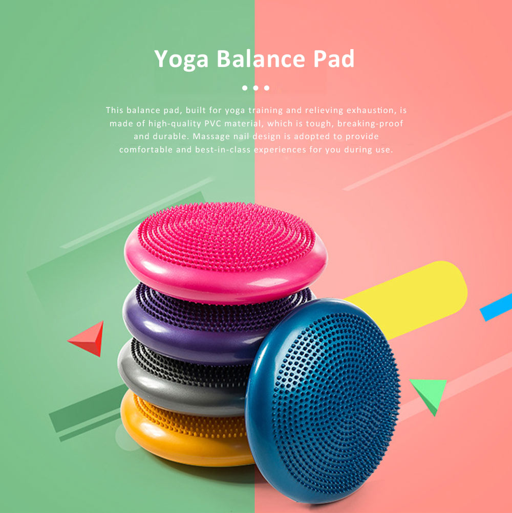 Elastic Tough Explosive Proof PVC Yoga Gym Balance Pad, Thicken Stability Massage Air Cushion Wobble Pad Balance Board Disc 0