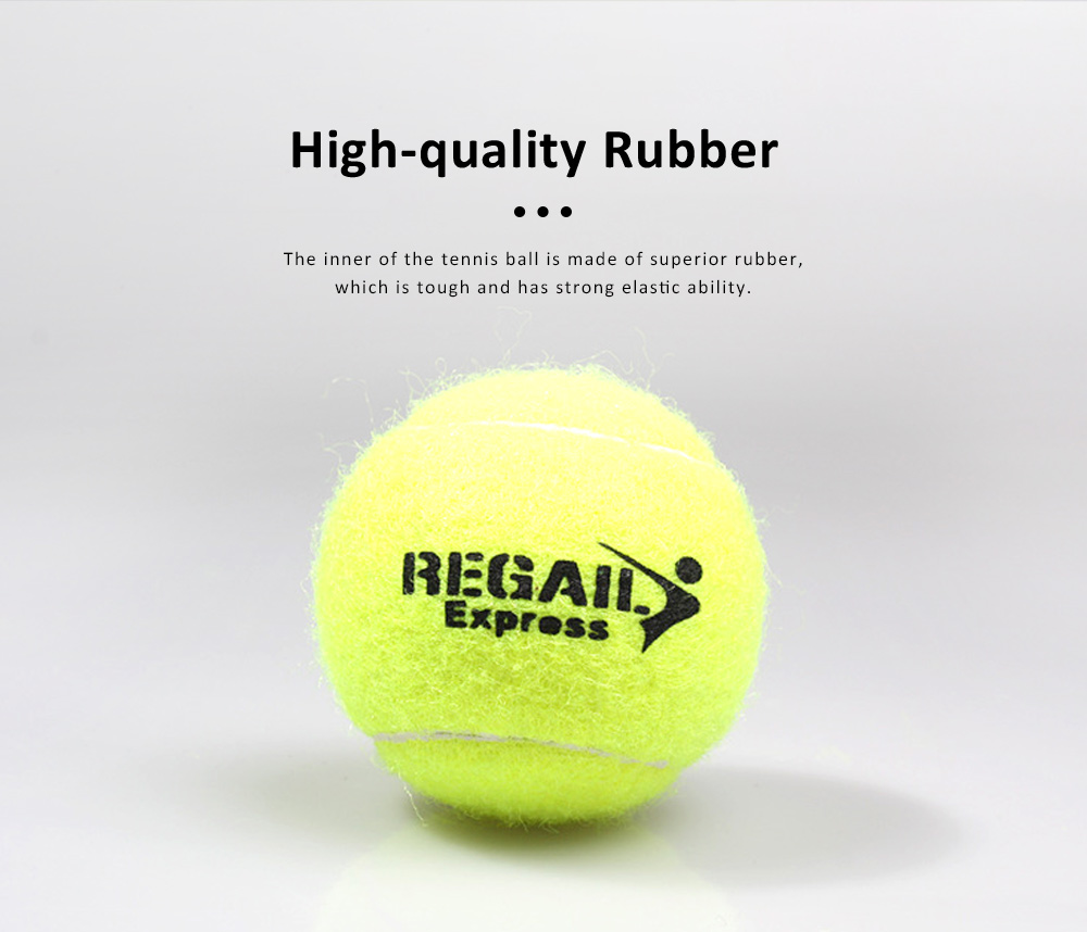 3PCS General Teenagers Training Pressure Tennis Balls Set, Delicate Durable Elastic Rubber Practice Tennis 1