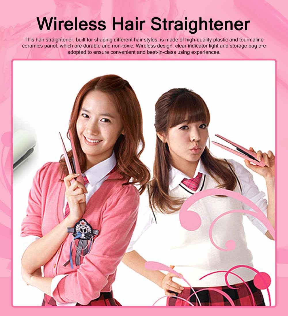 Mini Portable Wireless Hair Straightener Iron, Ceramic Glaze Coating Hair Care Shaping Heating Hairpin 0