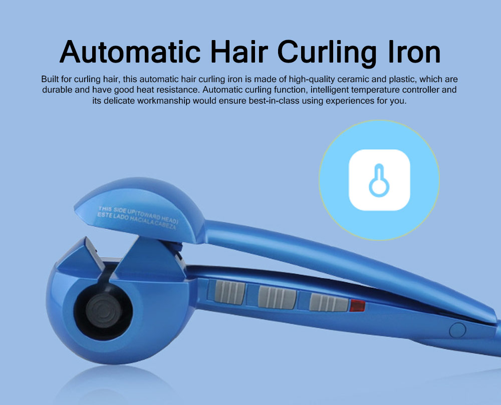 Automatic Ceramic Hair Curling Crimping Heating Iron, Professional Household Hair Shaping Curler Waver Maker 0