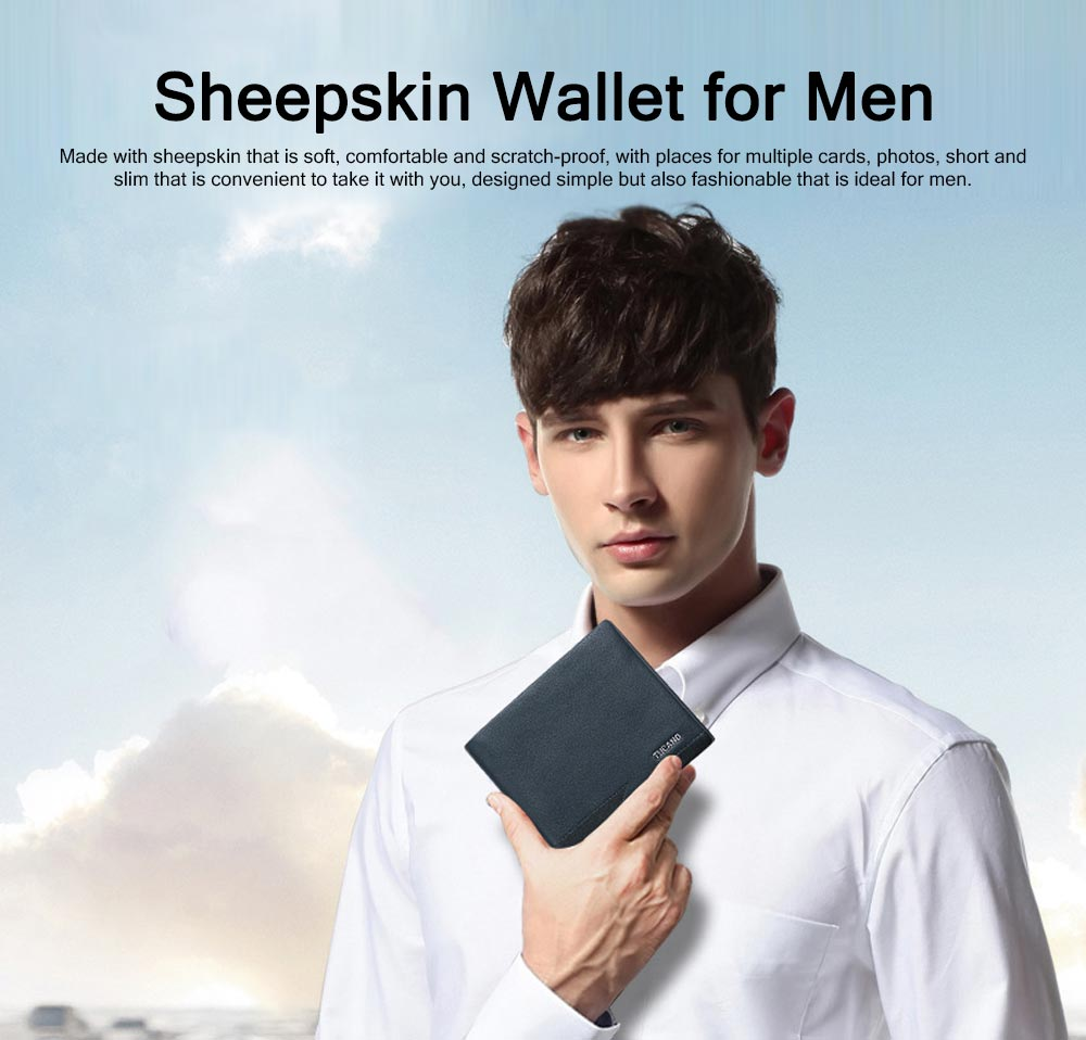 Sheepskin Leather Soft Wallet, Slim Wallet with Multiple Cards, Foldable Wallet for Travel, Business, Men's Fashionable Wallet 0