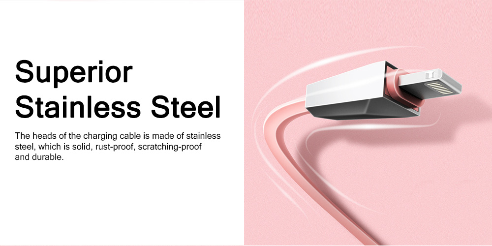 Delicate Copper Core 2.4A Quick Charge Data Charging Cable, Mobile Phone Charging Wire for iPhone Samsung Android 3
