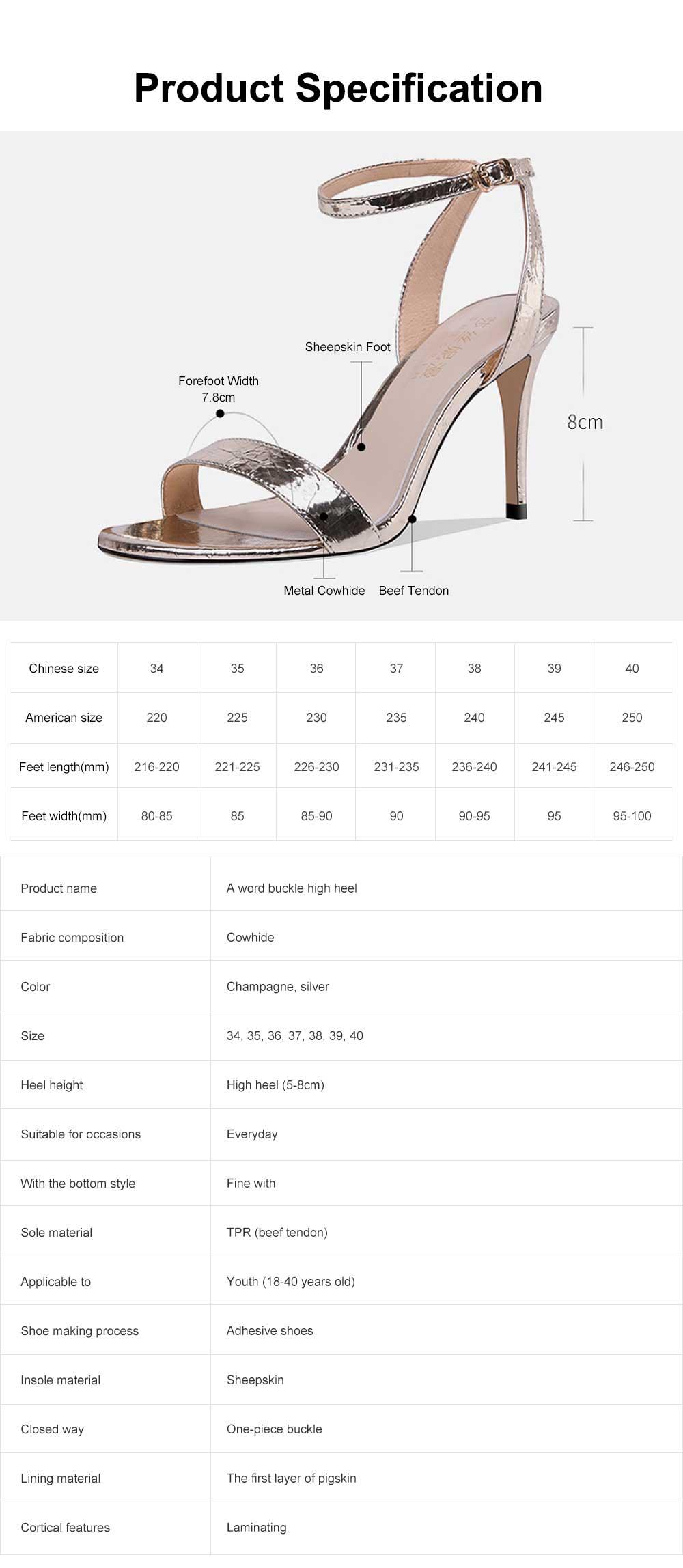 Summer High Heel Sandals with Word Buckle Roman Sandals, Women Dress Shoes Sexy High Heels 6
