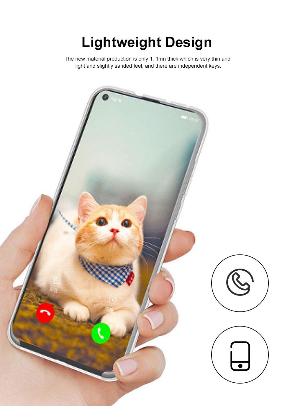 Plain Transparent Phone Case Ultra-soft Light Silicone Phone Shell for HUAWEI NOVA 4 Shinny Phone Cover 1