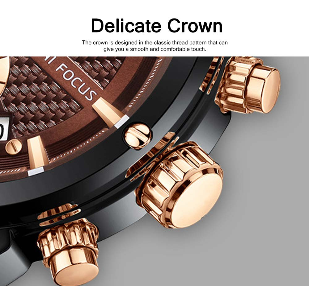 Waterproof Luminous Watch with Calendar, Business Men's Watch with Leather Band 2019 Fashion Mechanical Watch 4