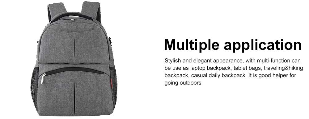 Diaper Bag Backpack Insular Fashion Baby Nursing Backpack with Large Capacity, Multi-Function Waterproof Durable Mammy Shoulders Bag 4