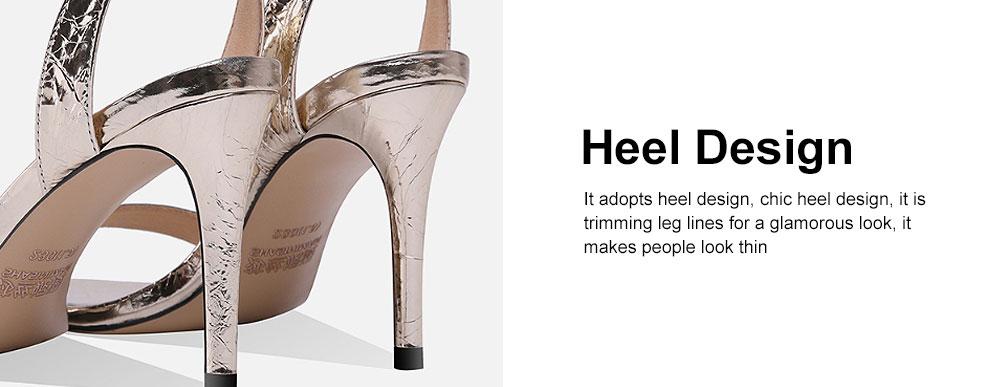 Summer High Heel Sandals with Word Buckle Roman Sandals, Women Dress Shoes Sexy High Heels 4