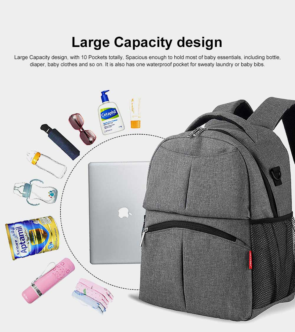 Diaper Bag Backpack Insular Fashion Baby Nursing Backpack with Large Capacity, Multi-Function Waterproof Durable Mammy Shoulders Bag 1
