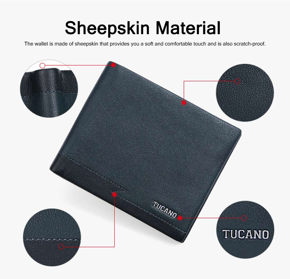 Sheepskin Leather Soft Wallet, Slim Wallet with Multiple Cards, Foldable Wallet for Travel, Business, Men's Fashionable Wallet 1