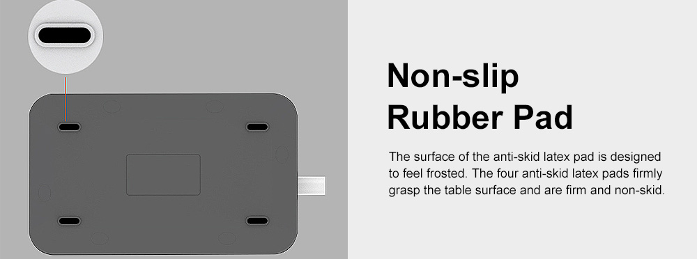Multifunctional Plug with 6 USB Terminal Board & Non-slip Rubber Pad & Children's Safety Protection Valve 2M USB Charging Socket Panel 4