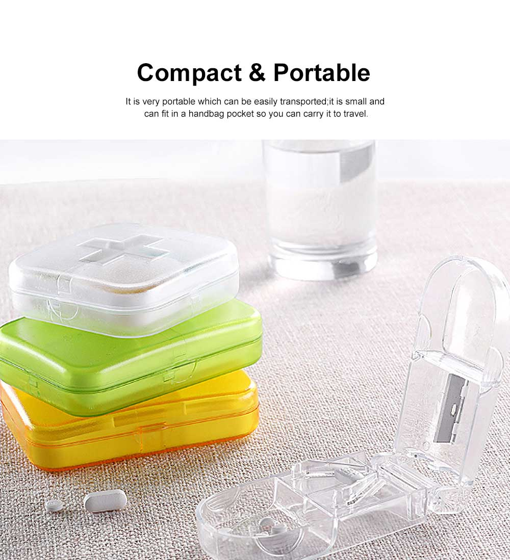 Moisture-proof Waterproof Weekly Pill Case, Multi-purpose Pill Organizer Pure Color Medicine Box with Large Capacity 1