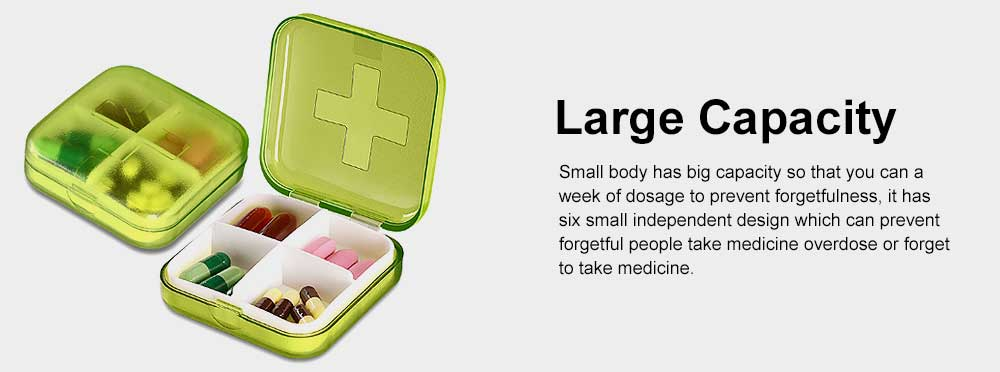 Moisture-proof Waterproof Weekly Pill Case, Multi-purpose Pill Organizer Pure Color Medicine Box with Large Capacity 3