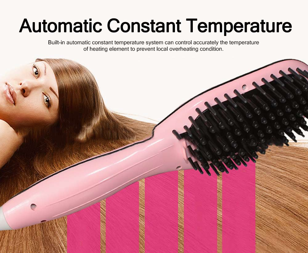 Functional Electric Curling Hair Straightener Comb, Auto Temperature Control Hair Shaping Straight Iron Tools 2
