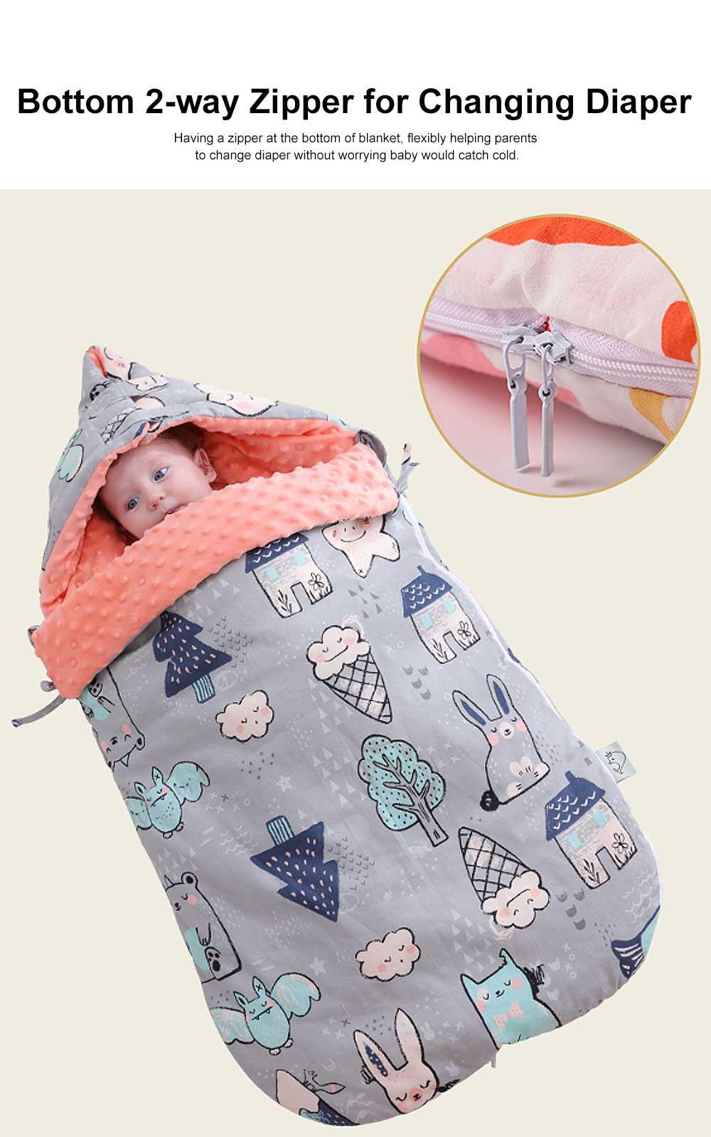Baby Sleeping Bag Spring Autumn Extra Thick Baby Sleeping Sack, Twitching-safe 100% Cotton Newborn Baby Sleeping Fleabag 1