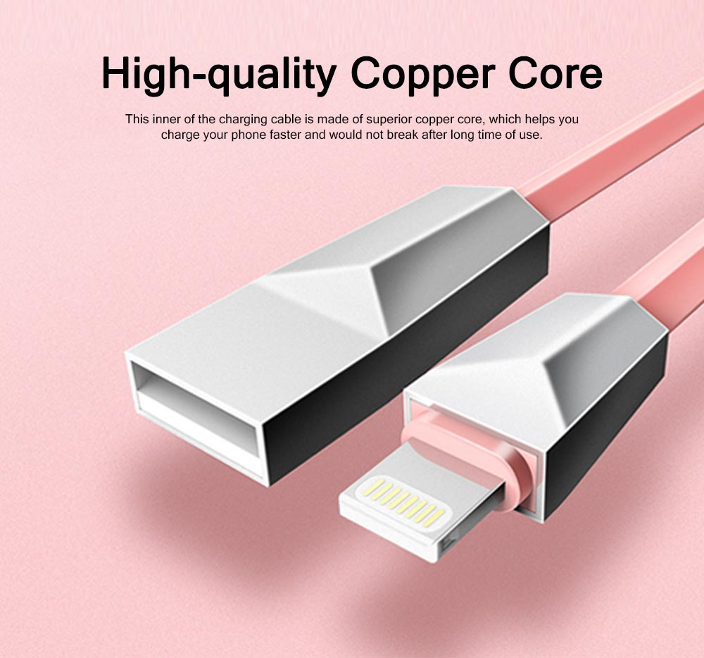 Delicate Copper Core 2.4A Quick Charge Data Charging Cable, Mobile Phone Charging Wire for iPhone Samsung Android 1